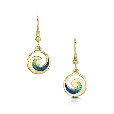 Pentland in Gold Earrings