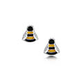 Bumblebee Small Enamel Stud Earrings in Sterling Silver