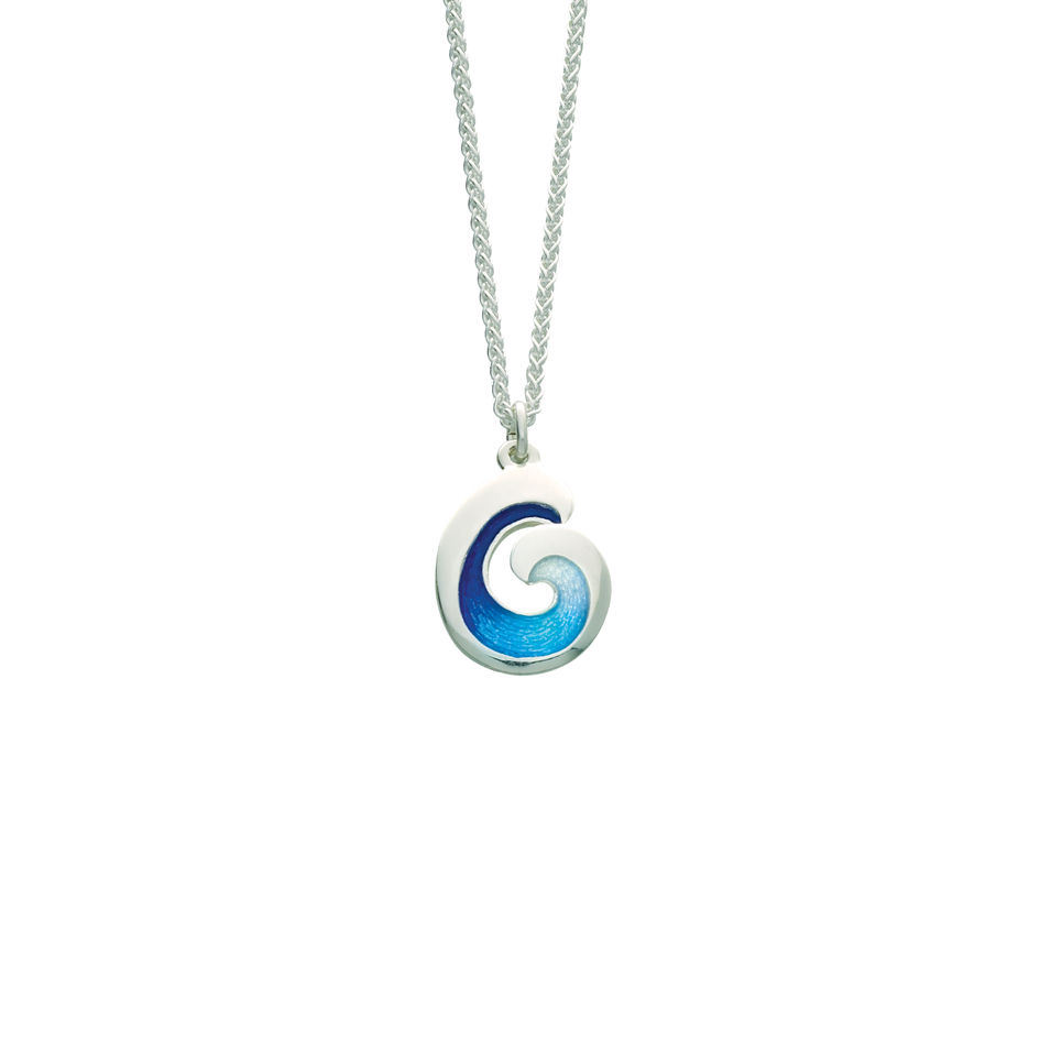 koru sterling designs silver earthbound pendant wave nz new zealand shop kiwi by paua ocean