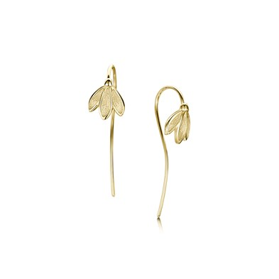 Snowdrop in Gold Earrings