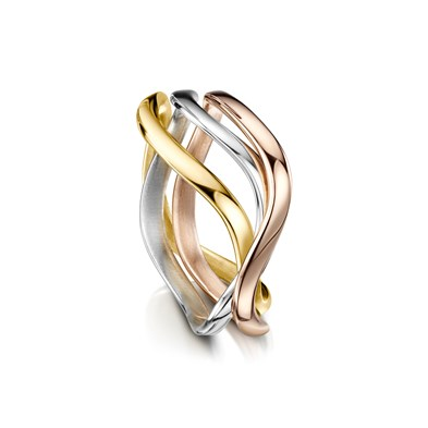 Tidal in Gold Ring